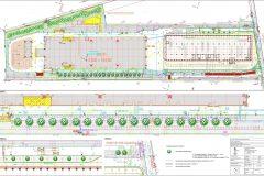 Sadové úpravy v okolí novostavby výstavno-skladovej haly v Leviciach