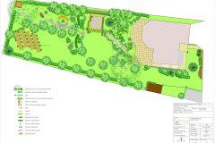 Návrh výsadby záhrady pri súkromnom rodinnom dome v Leviciach